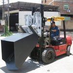 3 ton Hyundai Diesel vurkhyser aanhegtingsemmer Hengse vurk en emmer